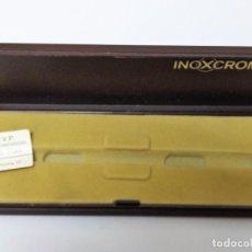 Escribanía: CAJA VACIA PLUMA INOXCROM + ROTING. Lote 132755058