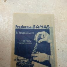 Escribanía: ANTIGUO SOBRE DE TINTA SAMAS PARA PLUMA ESTILOGRÁFICA. Lote 133026581