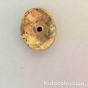 Escribanía: Sello lacre tampón plata. Siglo XIX.. Sabio japonés burilado con estuche. - Foto 2 - 133061470