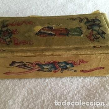 Escribanía: Sello lacre tampón plata. Siglo XIX.. Sabio japonés burilado con estuche. - Foto 3 - 133061470