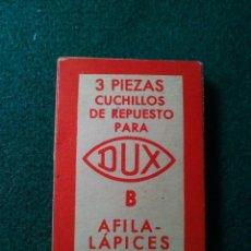 Escribanía: RECAMBIOS DE 3 CUCHILLAS PARA SACAPUNTAS. Lote 133476250