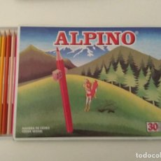 Escribanía: CADA DE 30 LÁPICES DE COLORES ALPINO.. Lote 134137806