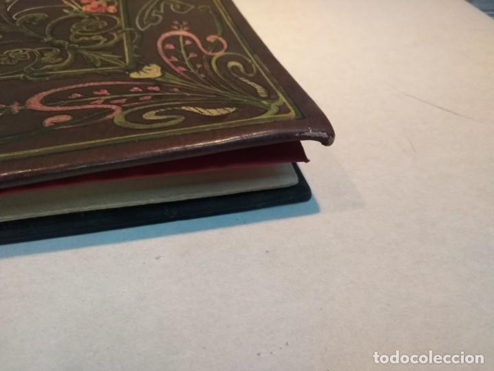 Escribanía: Precioso portafolio art nouveau en piel con escena pintada al oleo - Foto 14 - 134329858