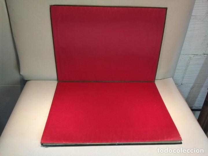 Escribanía: Precioso portafolio art nouveau en piel con escena pintada al oleo - Foto 15 - 134329858
