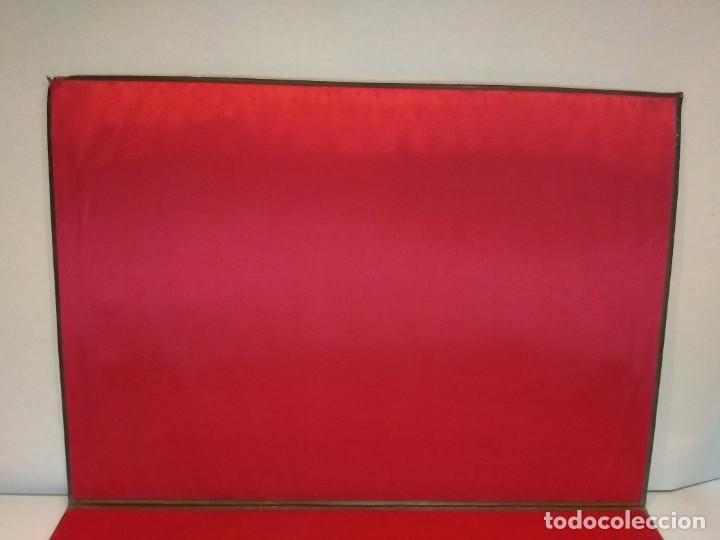 Escribanía: Precioso portafolio art nouveau en piel con escena pintada al oleo - Foto 16 - 134329858