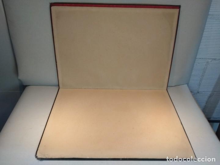 Escribanía: Precioso portafolio art nouveau en piel con escena pintada al oleo - Foto 18 - 134329858