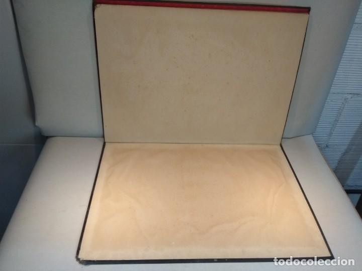 Escribanía: Precioso portafolio art nouveau en piel con escena pintada al oleo - Foto 23 - 134329858