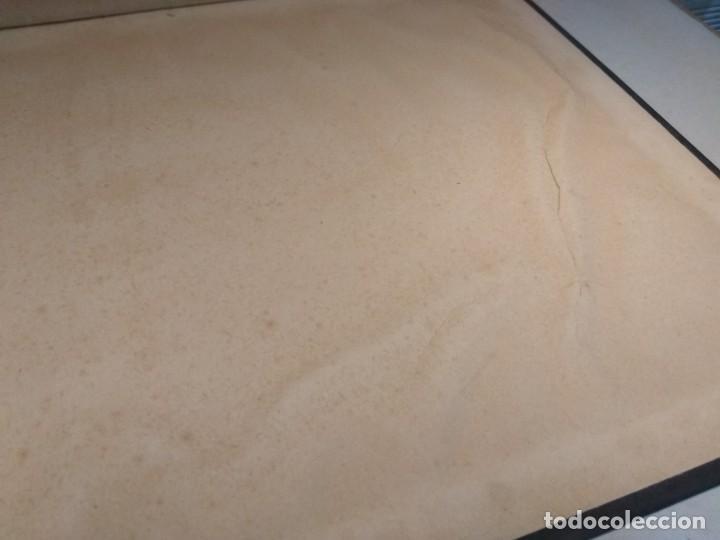 Escribanía: Precioso portafolio art nouveau en piel con escena pintada al oleo - Foto 27 - 134329858