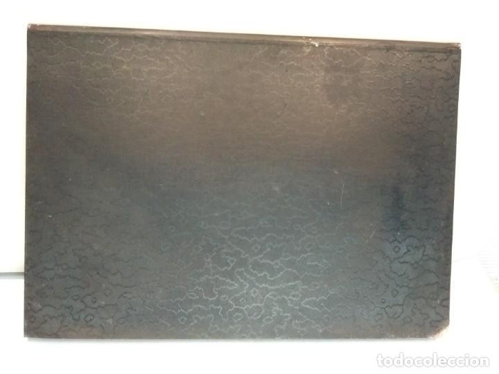 Escribanía: Precioso portafolio art nouveau en piel con escena pintada al oleo - Foto 28 - 134329858