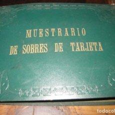 Escribanía: CURIOSO ANTIGUO MUESTRARIO DE SOBRES DE TARJETA POSTAL . CORREOS . CATALOGO. Lote 135613098
