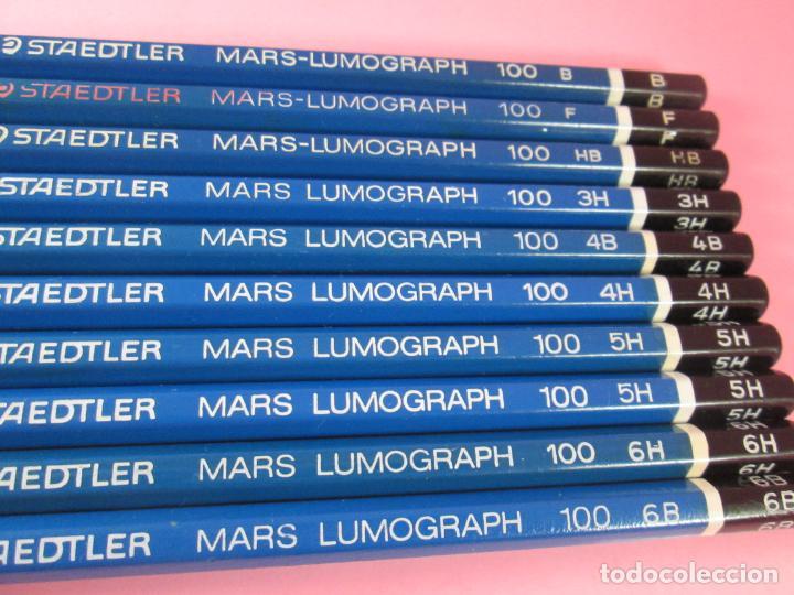 Escribanía: LOTE 10 LÁPICES-STAEDTLER LUMOGRAPH 100-DIFERENTES DUREZAS-VER FOTOS - Foto 3 - 136194538