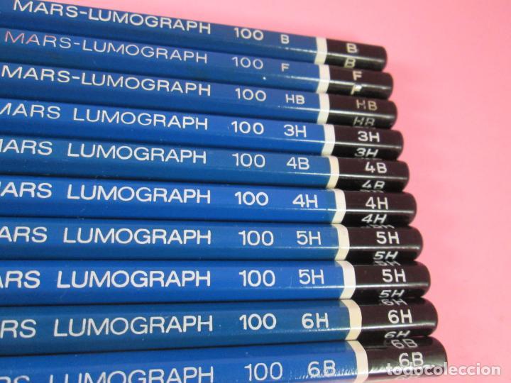 Escribanía: LOTE 10 LÁPICES-STAEDTLER LUMOGRAPH 100-DIFERENTES DUREZAS-VER FOTOS - Foto 6 - 136194538