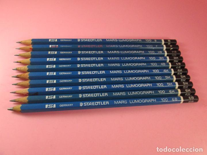 Escribanía: LOTE 10 LÁPICES-STAEDTLER LUMOGRAPH 100-DIFERENTES DUREZAS-VER FOTOS - Foto 10 - 136194538