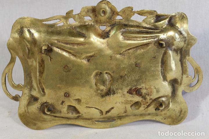 Escribanía: tintero escribania modernista en bronce - Foto 3 - 137584466