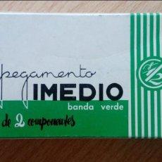 Escribanía: PEGAMENTO IMEDIO BANDA VERDE. Lote 139162514