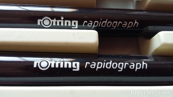 Escribanía: Antigua caja de Rotring radiograph años 80. Tres puntas con mango, portaminas, minas y goma - Foto 2 - 139597102