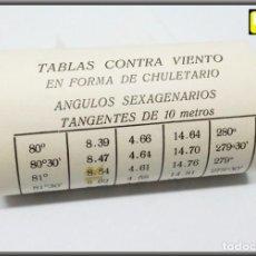 Escribanía: ROLLO PAPEL TABLAS CONTRA VIENTO CHULETARIO ANGULOS SEXAGENARIOS TANGENTES DE 10 METROS. Lote 141128750