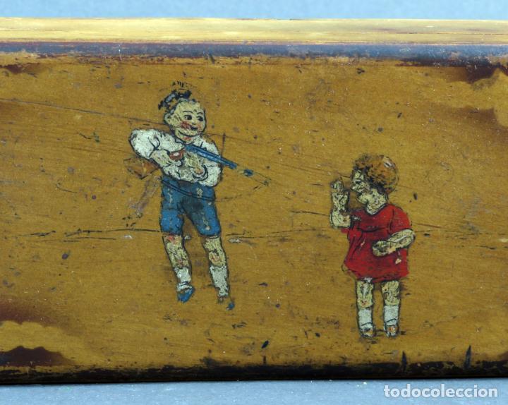 Escribanía: Estuche plumier madera vacío años 40 - 50 - Foto 2 - 141213686