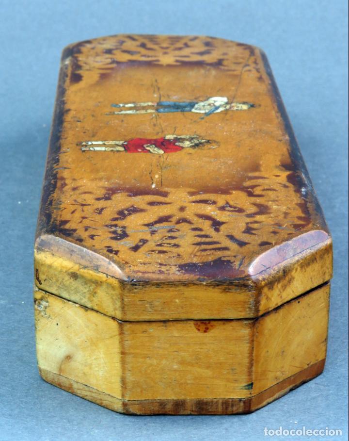 Escribanía: Estuche plumier madera vacío años 40 - 50 - Foto 3 - 141213686