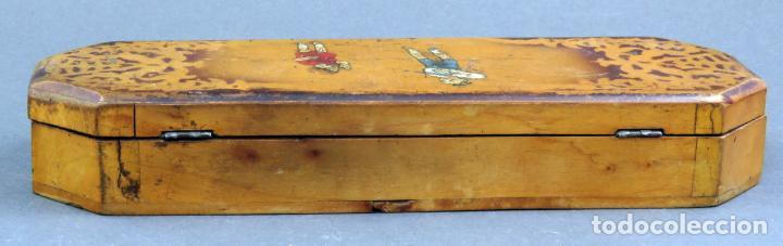 Escribanía: Estuche plumier madera vacío años 40 - 50 - Foto 4 - 141213686