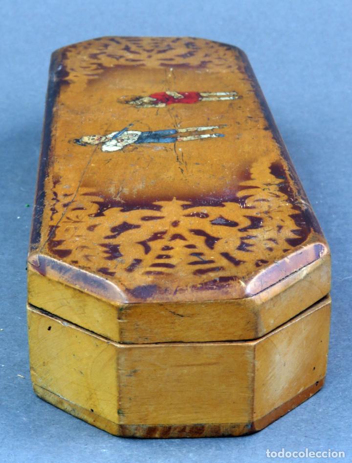 Escribanía: Estuche plumier madera vacío años 40 - 50 - Foto 5 - 141213686