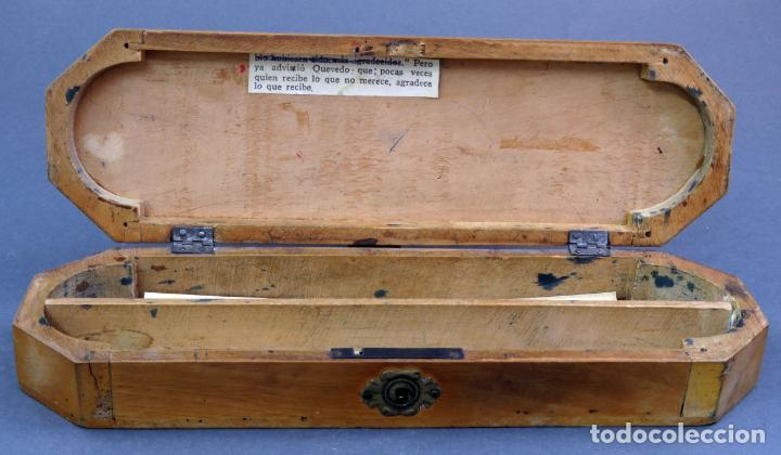 Escribanía: Estuche plumier madera vacío años 40 - 50 - Foto 6 - 141213686