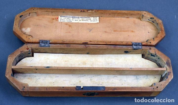 Escribanía: Estuche plumier madera vacío años 40 - 50 - Foto 7 - 141213686