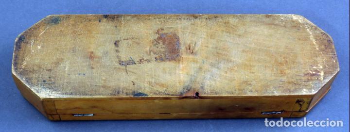 Escribanía: Estuche plumier madera vacío años 40 - 50 - Foto 8 - 141213686