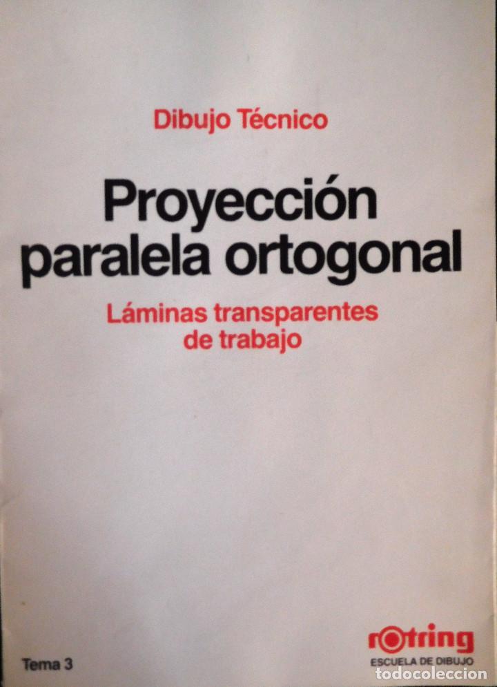 ROTRING - CARPETA 11 LÁMINAS DIBUJO TÉCNICO - ED.1986 TEMA 3 - PROYECCIÓN PARALELA ORTOGONAL ¡RARO! (Plumas Estilográficas, Bolígrafos y Plumillas - Plumillas y Otros Elementos de Escribanía)