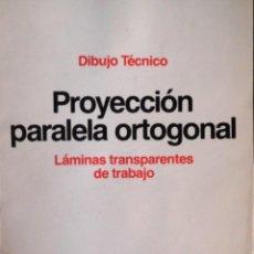 Escribanía: ROTRING - CARPETA 11 LÁMINAS DIBUJO TÉCNICO - ED.1986 TEMA 3 - PROYECCIÓN PARALELA ORTOGONAL ¡RARO!. Lote 141656790