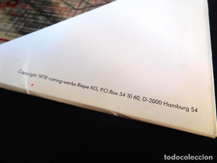 Escribanía: ROTRING - CARPETA 11 LÁMINAS DIBUJO TÉCNICO - ED.1986 TEMA 3 - PROYECCIÓN PARALELA ORTOGONAL ¡RARO! - Foto 3 - 247399050