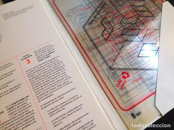 Escribanía: ROTRING - CARPETA 11 LÁMINAS DIBUJO TÉCNICO - ED.1986 TEMA 3 - PROYECCIÓN PARALELA ORTOGONAL ¡RARO! - Foto 4 - 247399050