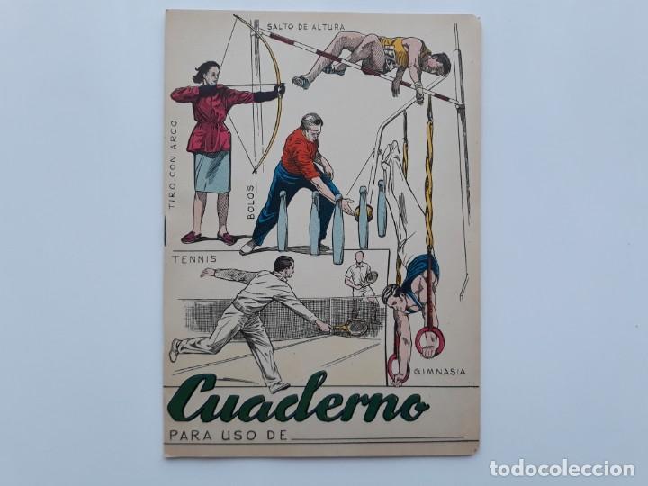 Antiguo Cuaderno Cuadriculado Libreta Estampado Dibujo Deportes Material Colegio Tabla Multiplicar