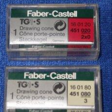 Escribanía: LOTE DE TRES PUNTAS DE FABER CASTELL. Lote 142363966