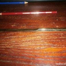 Escribanía: ABRECARTAS METAL DORADO 16 CM. GRABADO . Lote 143070554