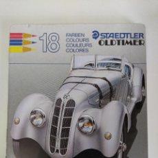 Escribanía: STAEDTLER OLDTIMER BMW-1939/18 LAPICES COLOR EN CAJA METALICA/NUEVOS¡¡¡¡¡¡. Lote 143318802