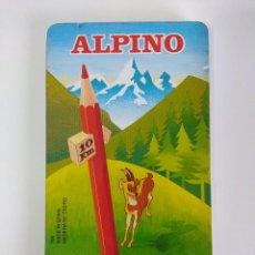 Escribanía: ALPINO/12 LAPICES COLOR EN CAJA METALICA/NUEVOS¡¡¡¡¡¡. Lote 143319254