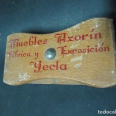 Escrita: TAMPON SECANTE MADERA PUBLICIDAD MUEBLES AZORIN YECLA (MURCIA) FABRICA Y EXPOSICION. Lote 143773186