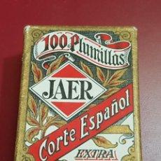Escribanía: CAJA 100 PLUMILLAS JAER CORTE ESPAÑOL EXTRA PRECINTADA. Lote 144231814