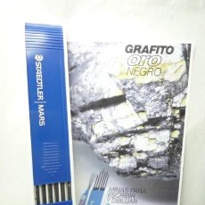 Escribanía: STAEDTLER CAJA DE 12 MINAS GRAFITO 2 MM MARS LUMOGRAPH 200 H. GERMANY 80'S. Lote 146028486