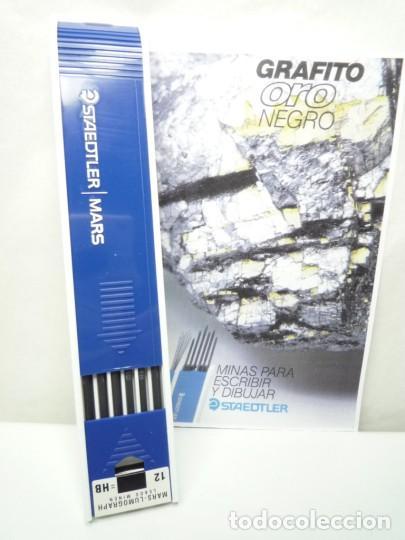 STAEDTLER CAJA DE 12 MINAS GRAFITO 2 MM MARS LUMOGRAPH 200 HB. GERMANY 90'S (Plumas Estilográficas, Bolígrafos y Plumillas - Plumillas y Otros Elementos de Escribanía)