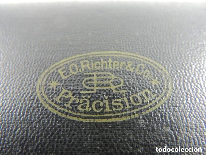 Escribanía: ANTIGUA CAJA DE COMPASES PRECISIÓN Marca Richter Alemania Excelente Objeto de Colección - Foto 11 - 146593038