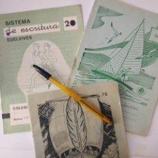 Escribanía - 3 ANTIGUOS CUADERNOS LIBRETAS EDELVIVES. - 148071578