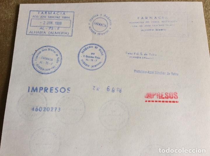 Escribanía: Lote 15 sellos, tampones unos cuantos de farmacia - Foto 2 - 148643174