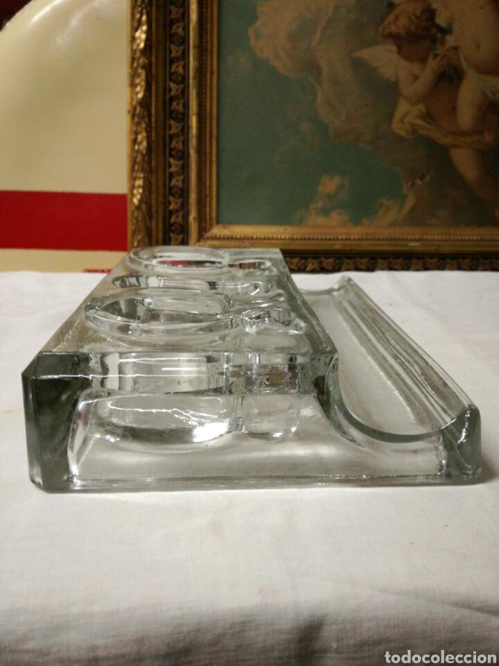Escribanía: Antiguo tintero de cristal - Foto 4 - 148679066