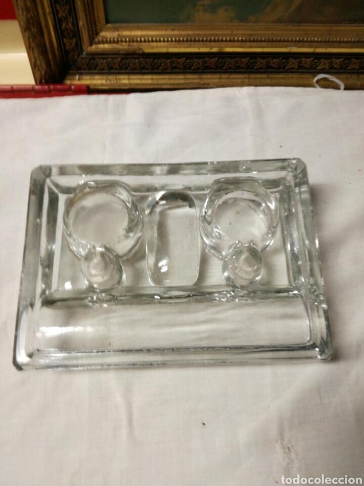 Escribanía: Antiguo tintero de cristal - Foto 5 - 148679066