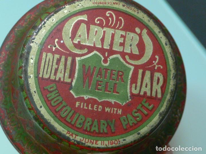 Escribanía: Tarro de cola Carters, Photolibrary paste jar, Pat, USA 1901 - Foto 5 - 150658498