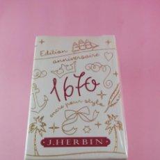 Escribanía: 31-TINTERO-J.HERBIN-EDICION ANIVERSARIO 1670-COLOR ÚNICO ROJO-PRECINTADO.. Lote 38613381