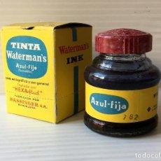 Escribanía: TINTA WATERMAN'S. INK AZUL FIJO. Nº 2. HASSINGER S.A.. Lote 151577910