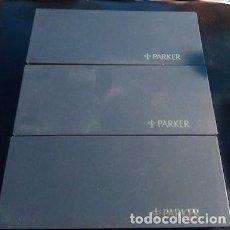 Escribanía: LOTE DE 3 ESTUCHES EXPOSITORES VACÍOS DE PLUMAS PARKER. Lote 151585482